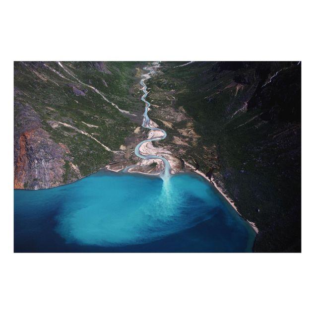 Forex Fine Art Print - Fluss in Grönland - Querformat 2:3