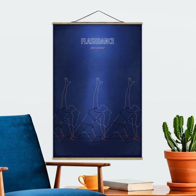 Stoffbild mit Posterleisten - Filmposter Flashdance - Hochformat 3:2