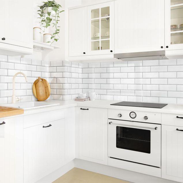 Küchenrückwand - Keramikfliesen Weiß