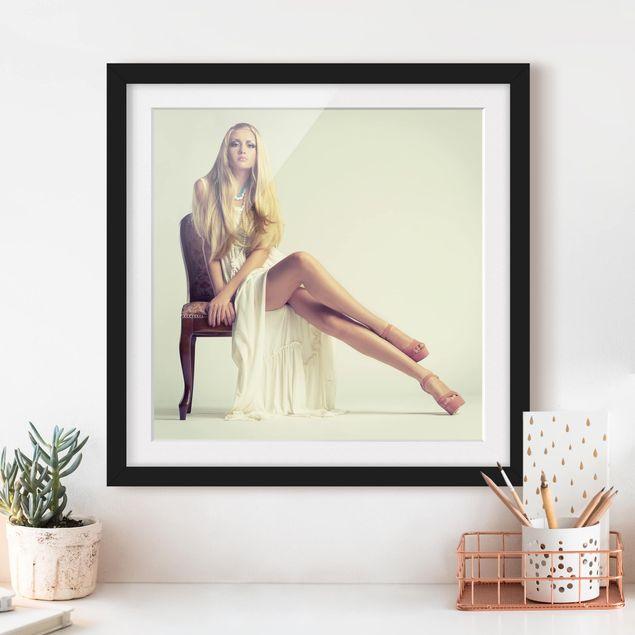 Bild mit Rahmen - No.270 Blonde Elegance - Quadrat 1:1