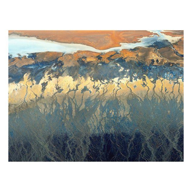 Forex Fine Art Print - Kalifornien aus der Luft - Querformat 3:4