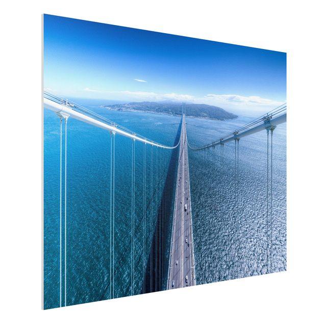 Forex Fine Art Print - Brücke zur Insel - Querformat 3:4