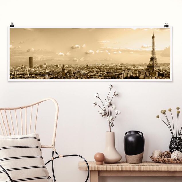 Poster - I Love Paris - Panorama Querformat