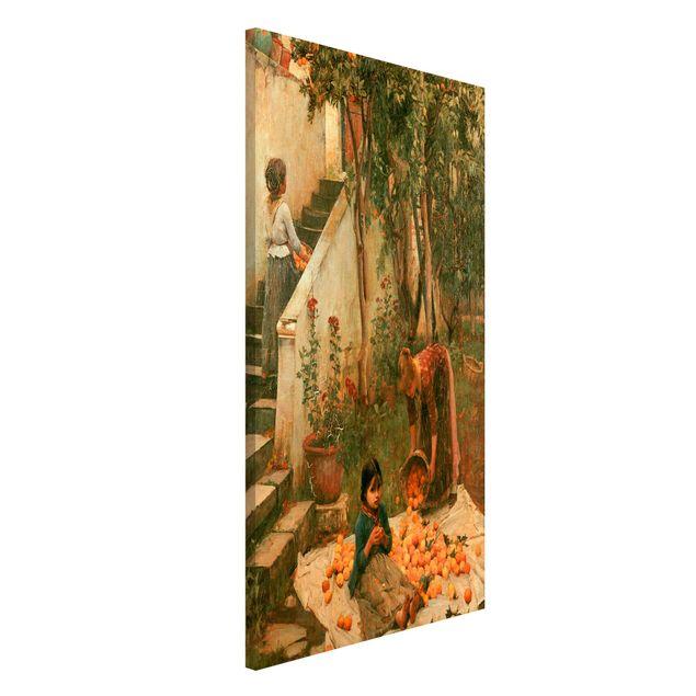 Magnettafel - John William Waterhouse - Die Orangenpflücker - Memoboard Hochformat 4:3