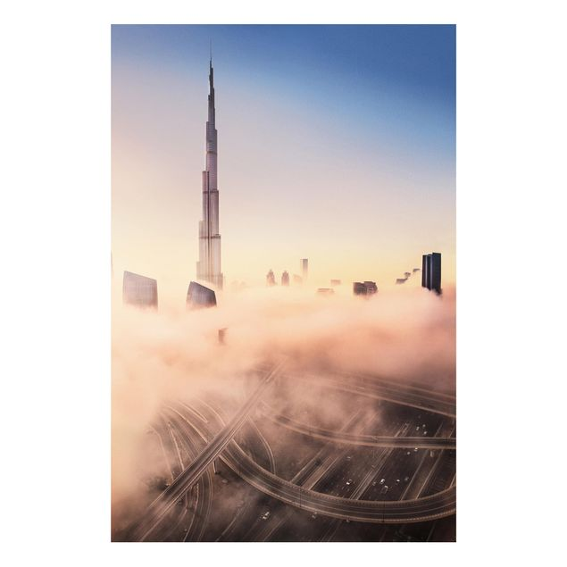 Forex Fine Art Print - Himmlische Skyline von Dubai - Hochformat 3:2