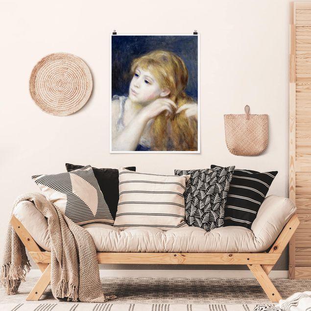 Poster - Auguste Renoir - Kopf eines Mädchens - Hochformat 3:4