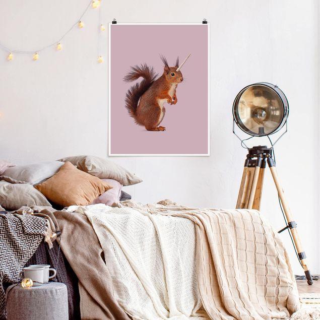 Poster - Jonas Loose - Einhörnchen - Hochformat 3:4