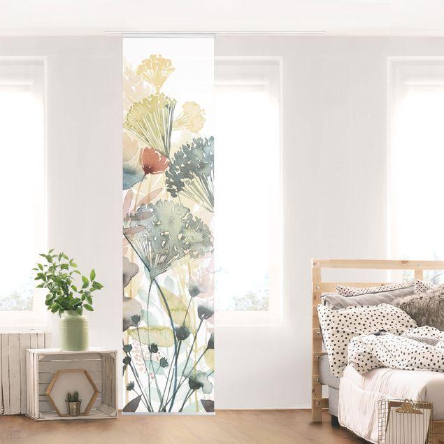 Schiebegardinen Set - Wildblumen im Sommer I - Flächenvorhang