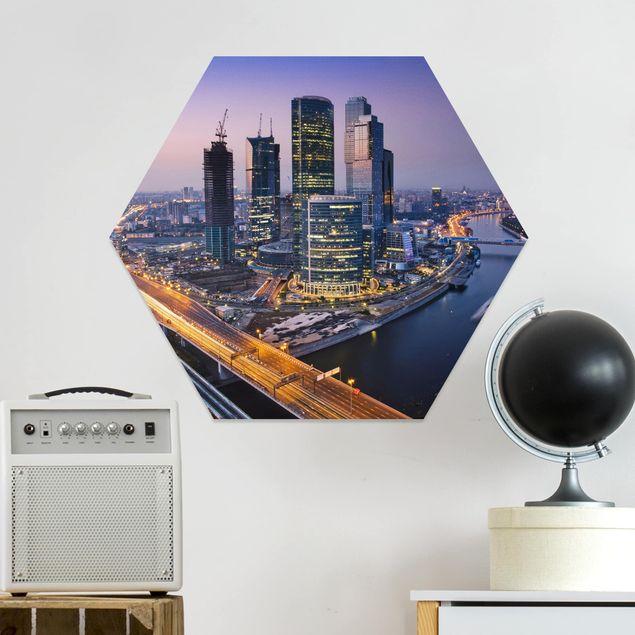 Hexagon Bild Forex - Sonnenuntergang über Moskau