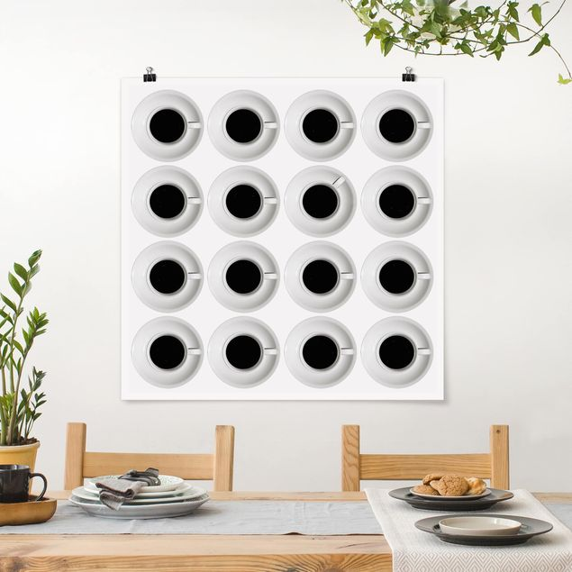 Poster - Kaffeehaus - Quadrat 1:1