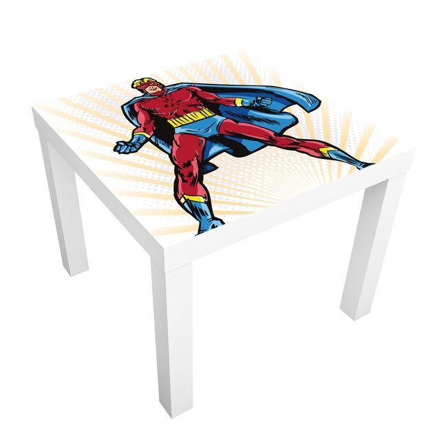 Möbelfolie für IKEA Lack - Klebefolie Superheld