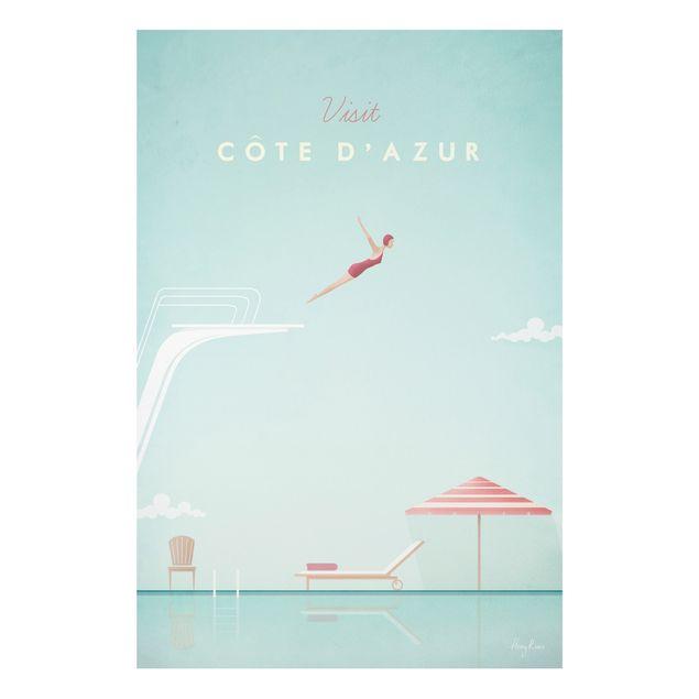 Forex Fine Art Print - Reiseposter - Côte d´Azur - Hochformat 3:2