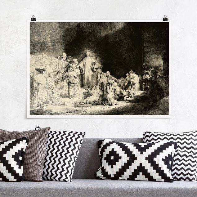 Poster - Rembrandt van Rijn - Christus heilt die Kranken - Querformat 2:3