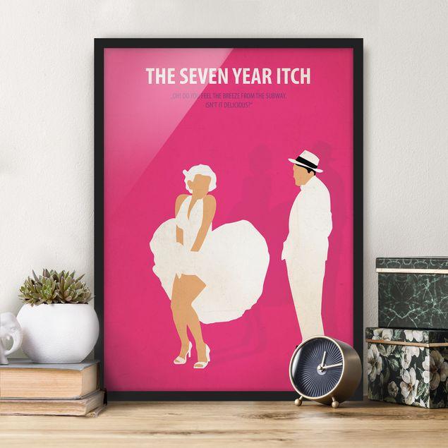 Bild mit Rahmen - Filmposter The seven year itch - Hochformat 4:3