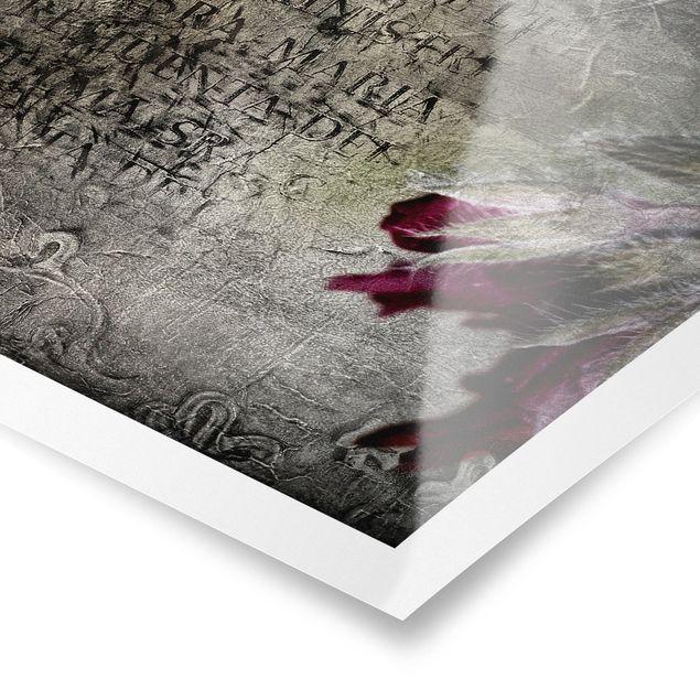 Poster - Mystic Flower - Quadrat 1:1