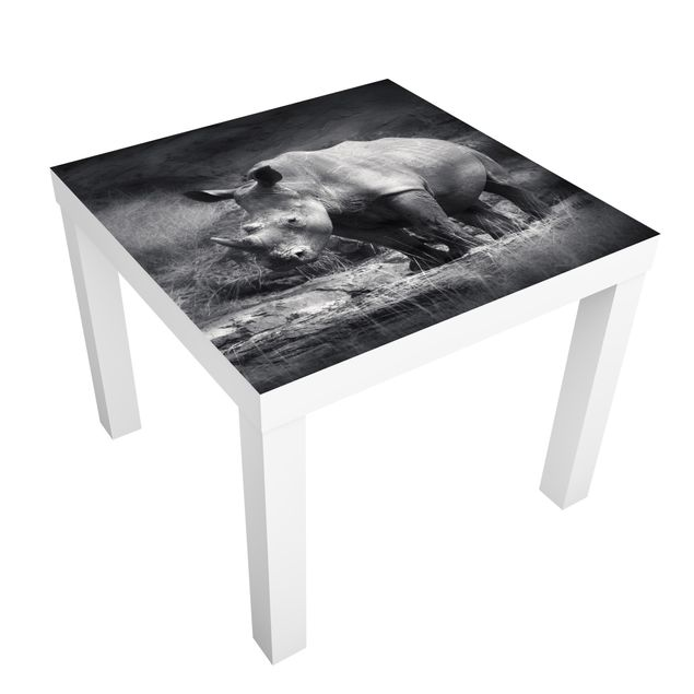Möbelfolie für IKEA Lack - Klebefolie Lonesome Rhinoceros