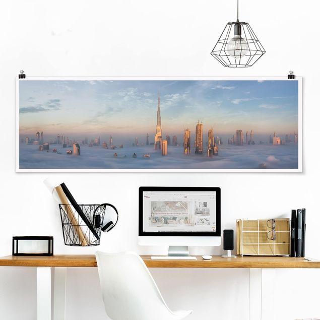 Poster - Dubai über den Wolken - Panorama Querformat