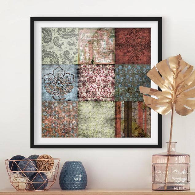 Bild mit Rahmen - Old Patterns - Quadrat 1:1
