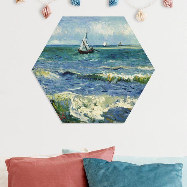 Hexagon Bild Forex - Vincent van Gogh - Seelandschaft
