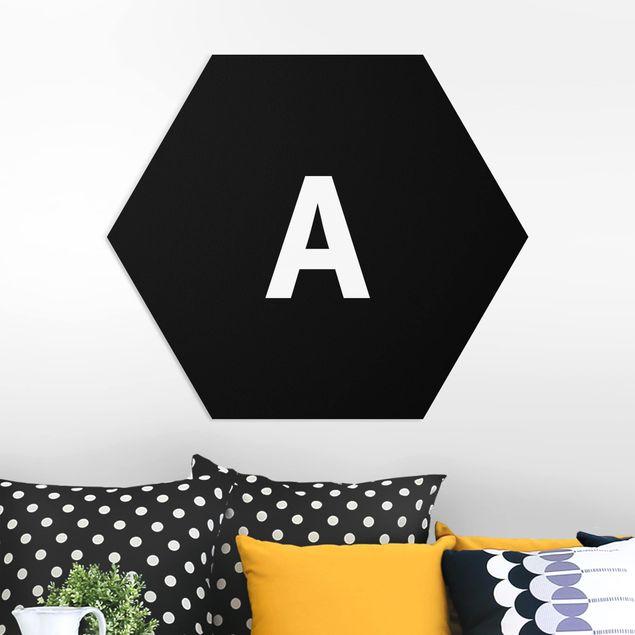 Hexagon Bild Forex - Buchstabe Schwarz A