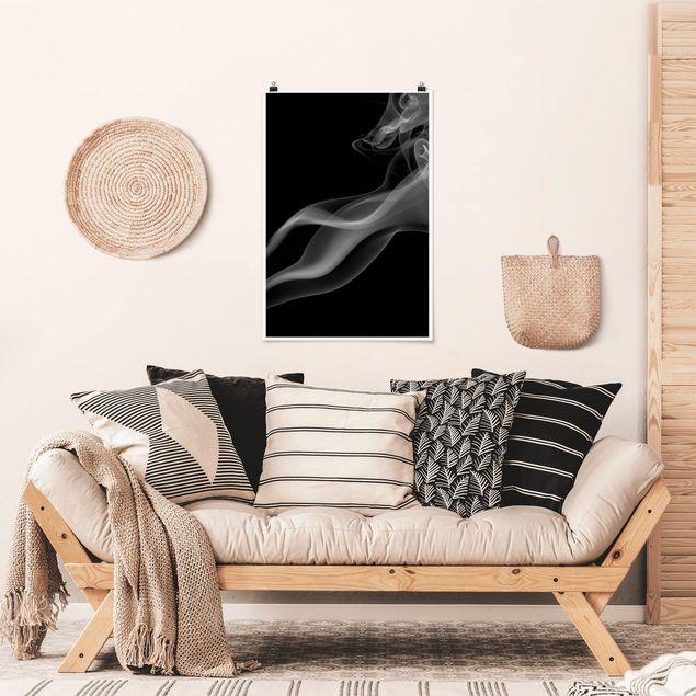 Poster - Smoking Silver - Hochformat 3:2