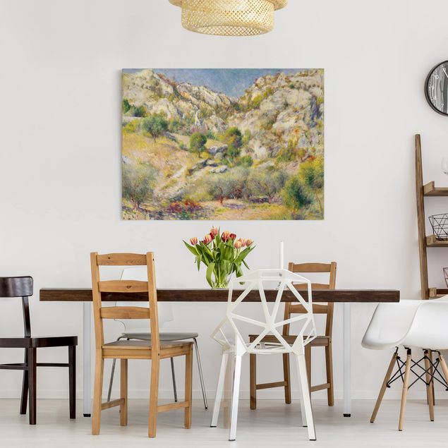 Leinwandbild - Auguste Renoir - Felsen bei Estaque - Querformat 3:4