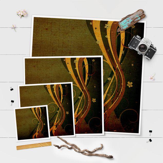 Poster - Asian Flower - Quadrat 1:1