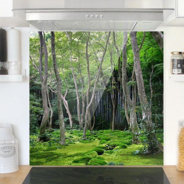 Glas Spritzschutz - Growing Trees - Quadrat - 1:1