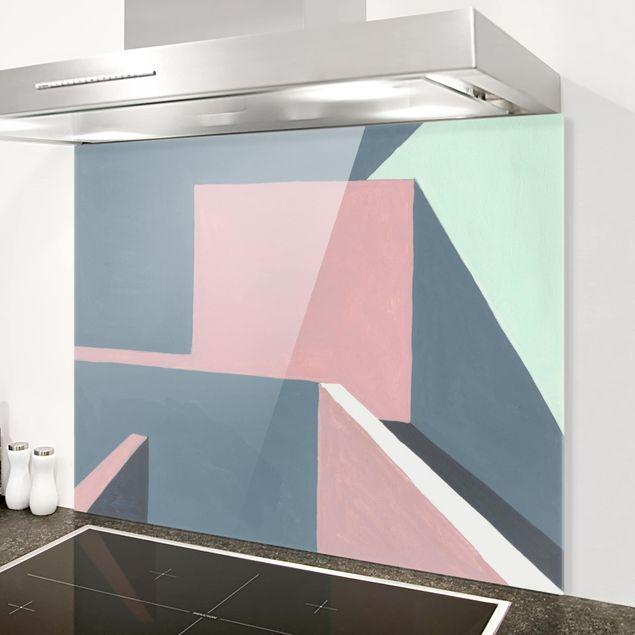 Glas Spritzschutz - Schatten der Wände II - Querformat - 4:3