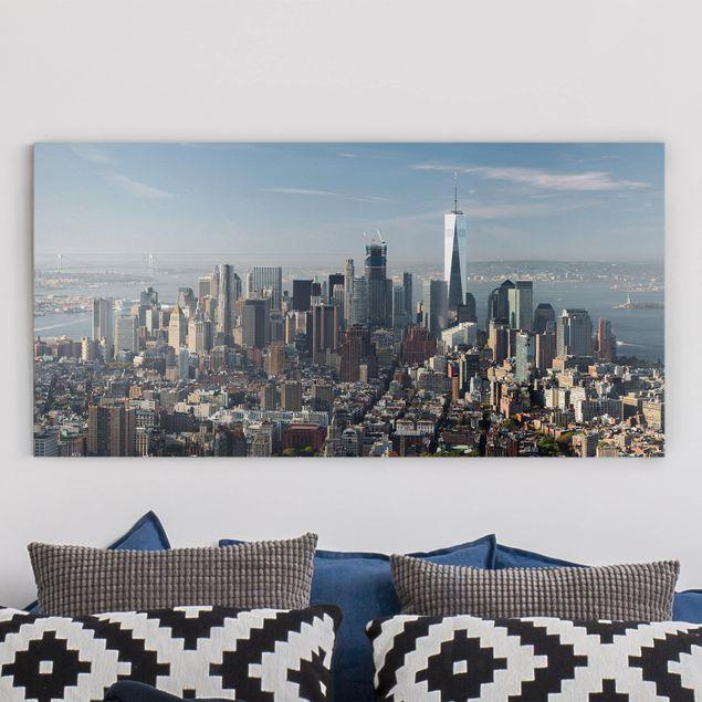 Leinwandbild - Blick vom Empire State Building - Querformat 1:2