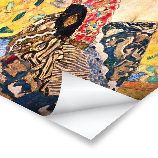 Poster - Gustav Klimt - Dame mit Fächer - Hochformat 3:4