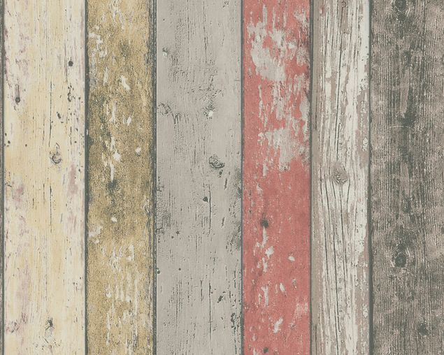 A.S. Création Mustertapete Best of Wood`n Stone 2nd Edition in Beige, Braun, Rot