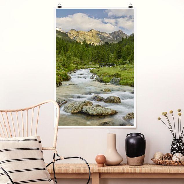 Poster - Debanttal Nationalpark Hohe Tauern - Hochformat 3:2