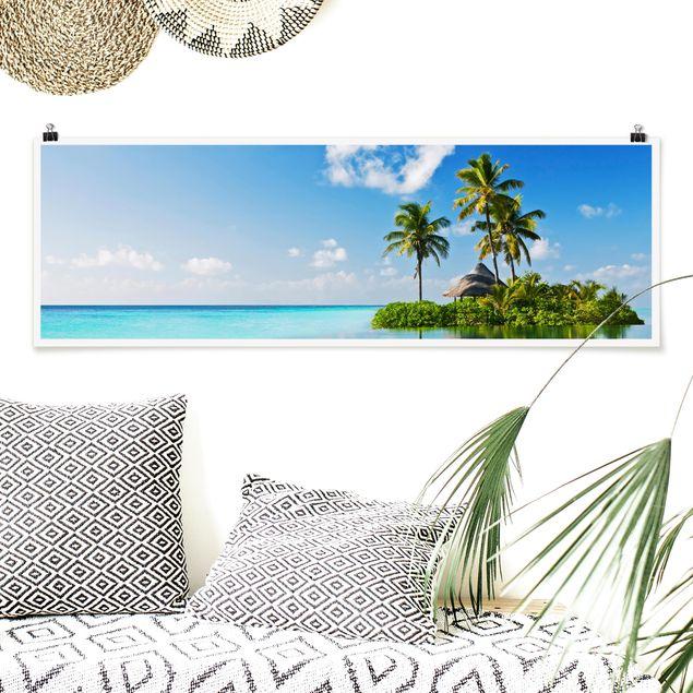 Poster - Tropisches Paradies - Panorama Querformat