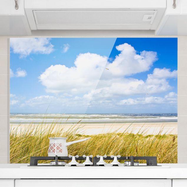 Glas Spritzschutz - An der Nordseeküste - Querformat - 4:3