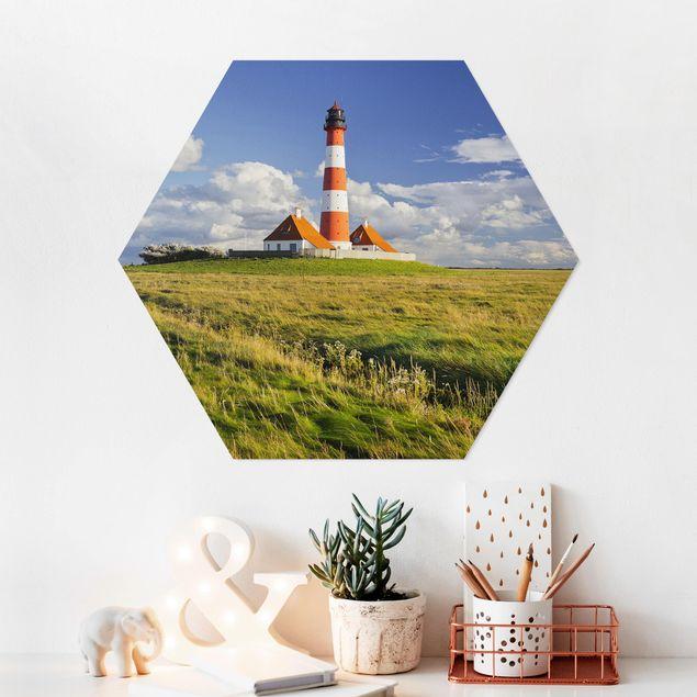 Hexagon Bild Forex - Leuchtturm in Schleswig-Holstein