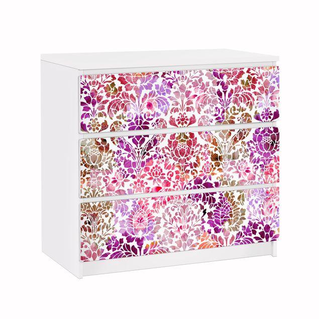 Möbelfolie für IKEA Malm Kommode - Klebefolie Sommerbarock