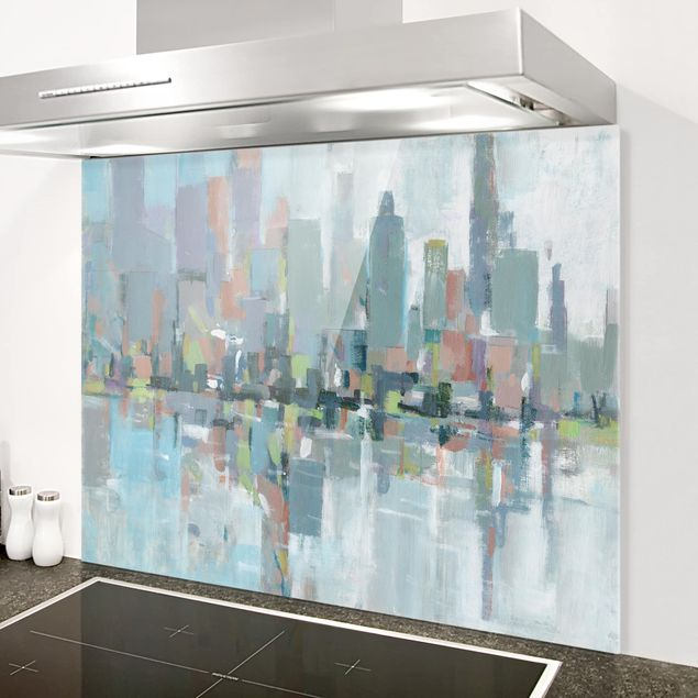 Glas Spritzschutz - Metro City I - Querformat - 4:3