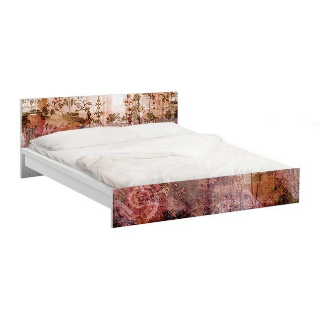 Möbelfolie für IKEA Malm Bett niedrig 160x200cm - Klebefolie Old Grunge