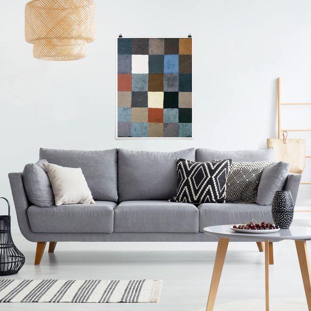 Poster - Paul Klee - Farbtafel - Hochformat 3:4