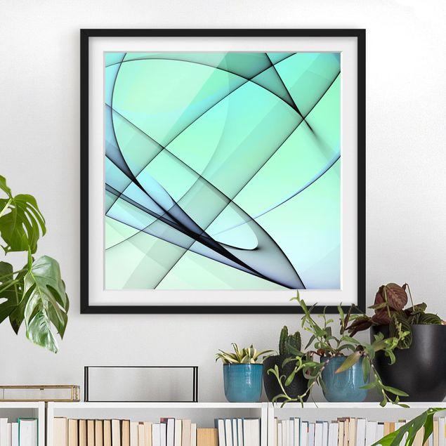 Bild mit Rahmen - Autumn Shapes - Quadrat 1:1