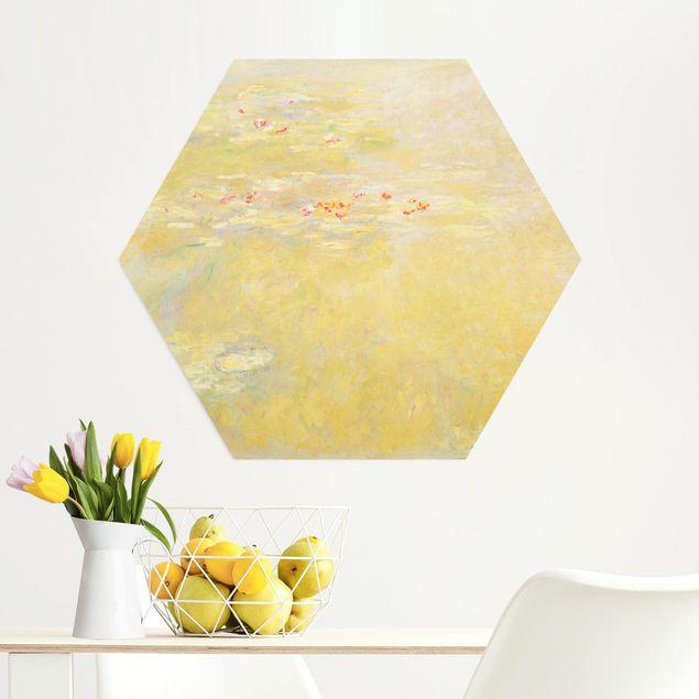 Hexagon Bild Alu-Dibond - Claude Monet - Seerosenteich