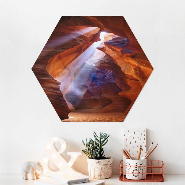 Hexagon Bild Forex - Lichtspiel im Antelope Canyon