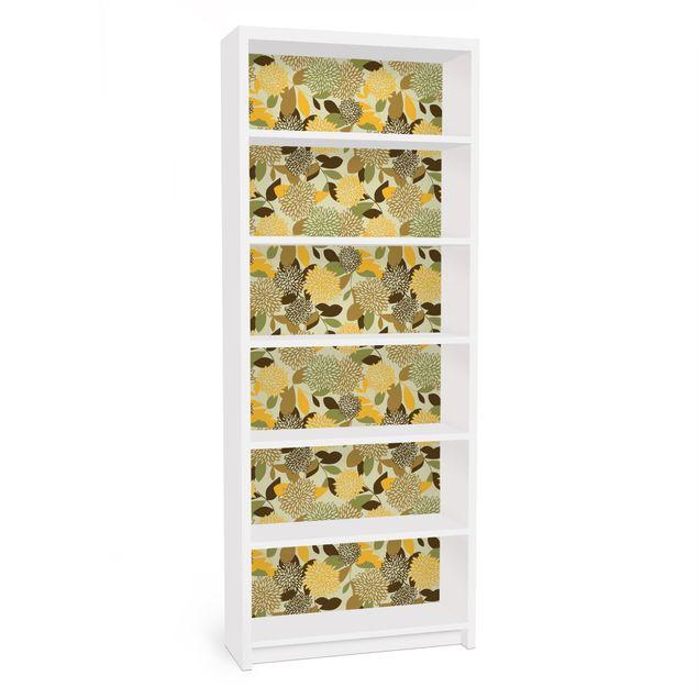 Möbelfolie für IKEA Billy Regal - Klebefolie Vintage Flowers