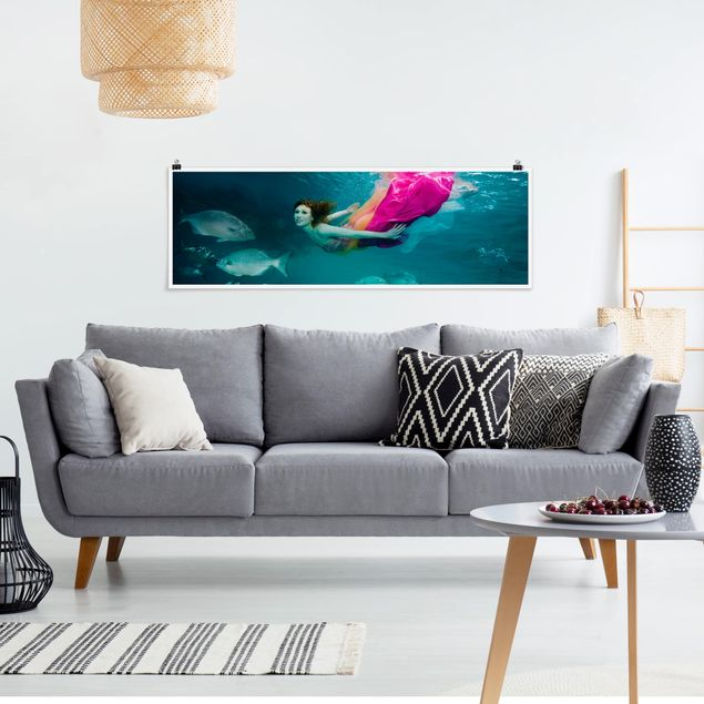 Poster - Underwater Beauty - Panorama Querformat