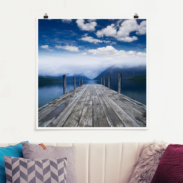 Poster - Nelson Lakes National Park - Quadrat 1:1