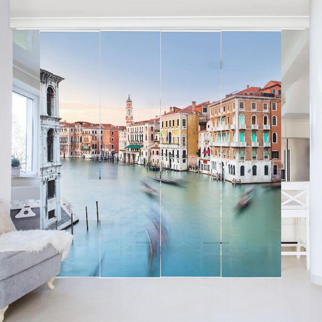 Schiebegardinen Set - Canale Grande Blick von der Rialtobrücke Venedig - 4 Flächenvorhänge