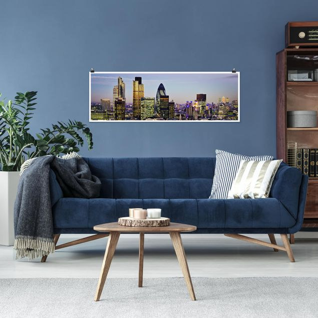 Poster - London City - Panorama Querformat