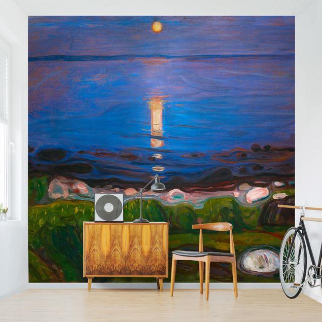 Fototapete - Edvard Munch - Sommernacht am Meeresstrand