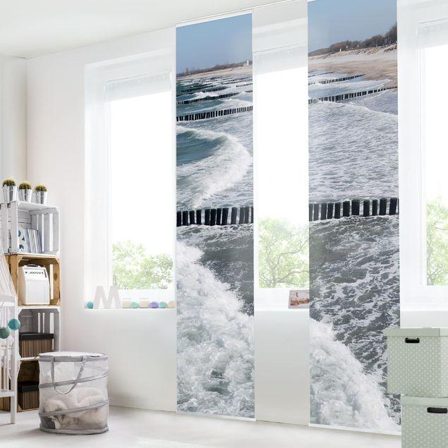 Schiebegardinen Set - North Sea - Flächenvorhänge